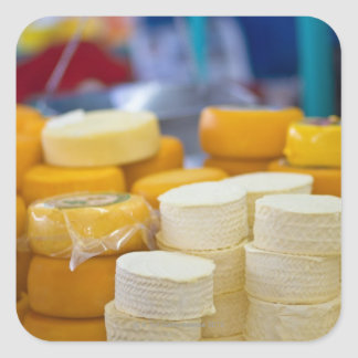 Assorted cheeses square sticker