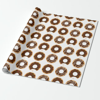 Assorted Chocolate Donuts Pattern Wrapping Paper