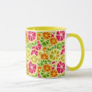 Assorted Citrus Fruit Slices Pattern Mug