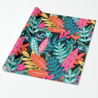 Assorted Colors Urban Jungle Leaves Wrapping Paper