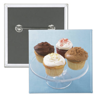 Assorted cupcakes 2 2 inch square button