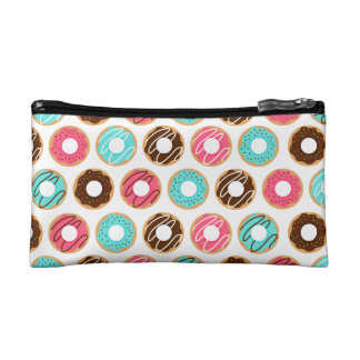Assorted Donuts Pattern Cosmetic Bag