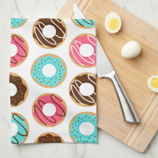 Assorted Donuts Pattern Kitchen Towel