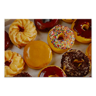 Assorted donuts poster