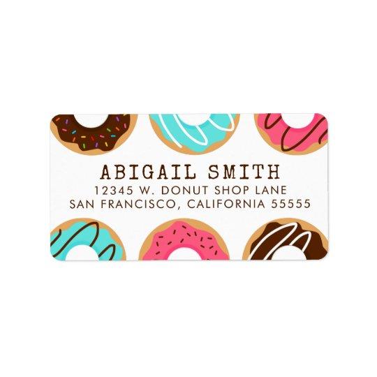 Assorted Doughnuts Label