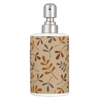 Assorted Fall Leaves Pattern Bathroom Set