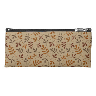 Assorted Fall Leaves Pattern Pencil Case