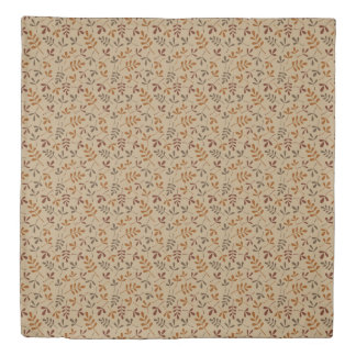 Assorted Fall Leaves Rpt Pattern Duvet Cover