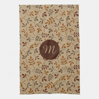 Assorted Fall Leaves Rpt Ptn (Personalized) Kitchen Towel