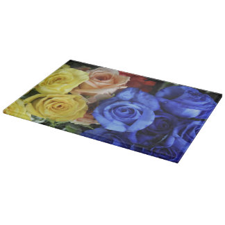Assorted fresh rose bouquets boards