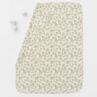 Assorted Green Leaves on Cream Small Pattern Swaddle Blanket