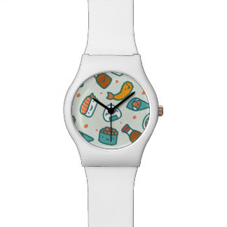 Assorted Kawaii Cute Japanese Sushi. Wristwatches