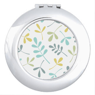 Assorted Leaves Color Mix on White Makeup Mirrors