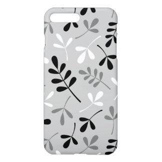 Assorted Leaves Monochrome Design iPhone 7 Plus Case