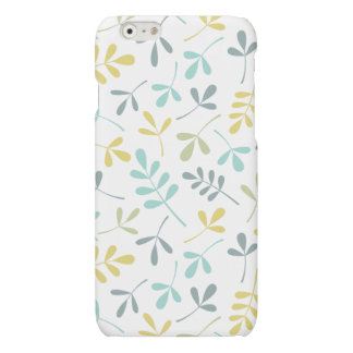 Assorted Leaves Pattern Color Mix on White