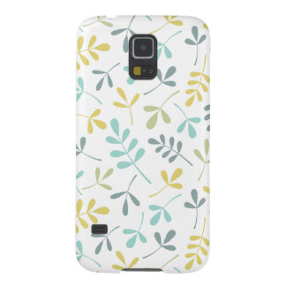 Assorted Leaves Pattern Color Mix on White Galaxy S5 Cover