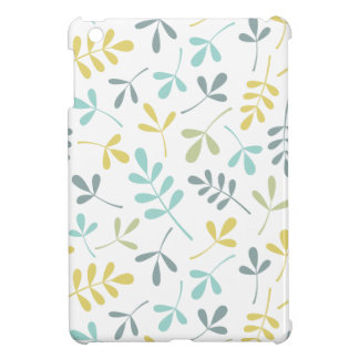 Assorted Leaves Pattern Color Mix on White iPad Mini Cover