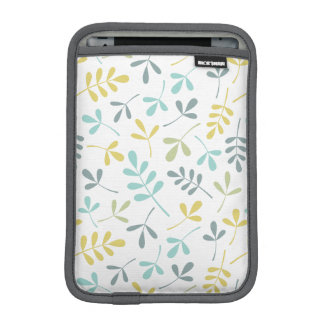 Assorted Leaves Pattern Color Mix on White iPad Mini Sleeve