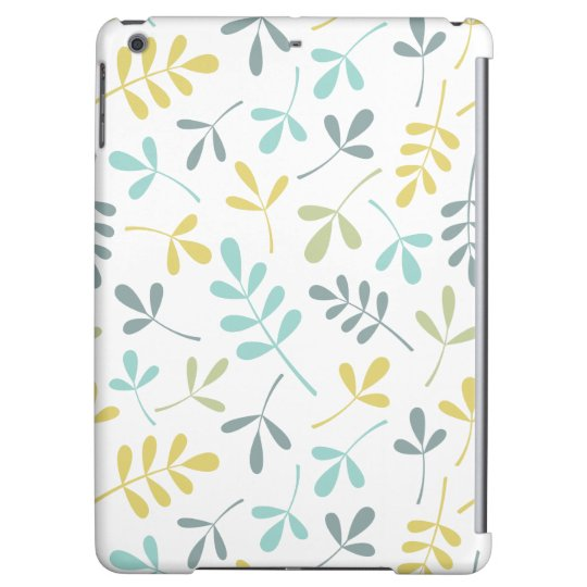 Assorted Leaves Pattern Colour Mix on White iPad Air Covers