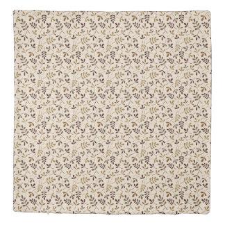 Assorted Leaves Rpt Ptn Gold Browns Cream Duvet Cover