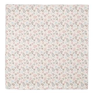 Assorted Leaves Rpt Ptn Pastel Colors Duvet Cover