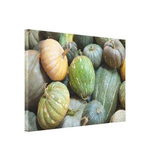 Assorted pumpkins canvas print