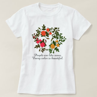 Assorted Roses, Every Color is Beautiful, T-Shirt