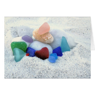 Assorted Sea Glass Card