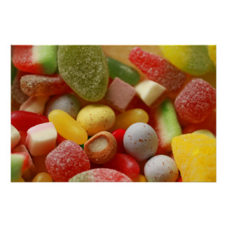 Assorted Sweets Poster Print