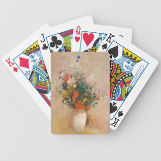 Assortion of Flowers in Vase Bicycle Playing Cards