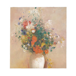 Assortion of Flowers in Vase Notepad