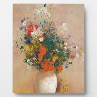 Assortion of Flowers in Vase Plaque