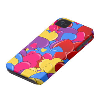 Assortment Candy Coated Valentine Chocolate Hearts iPhone 4 Case-Mate Cases