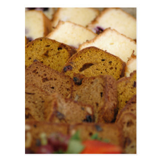 Assortment of Breakfast Breads and Cakes Postcard