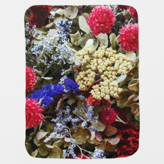 Assortment Of Dried Flowers Baby Blanket