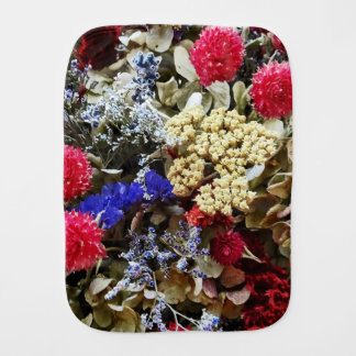 Assortment Of Dried Flowers Burp Cloth