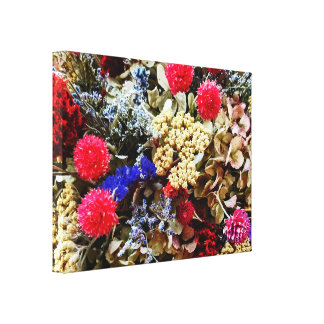 Assortment Of Dried Flowers Canvas Print