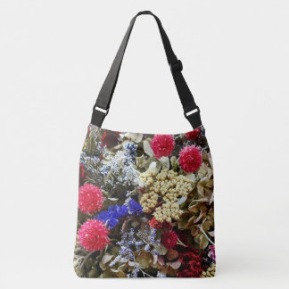 Assortment Of Dried Flowers Crossbody Bag