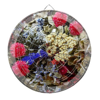 Assortment Of Dried Flowers Dartboard