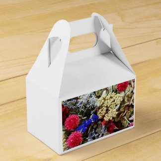Assortment Of Dried Flowers Favor Box