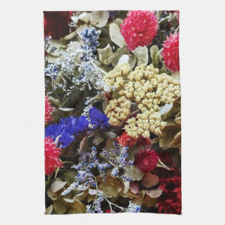 Assortment Of Dried Flowers Kitchen Towel
