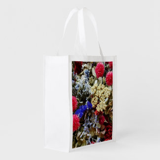 Assortment Of Dried Flowers Reusable Grocery Bag