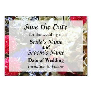 Assortment Of Dried Flowers Save the Date Card