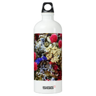 Assortment Of Dried Flowers Water Bottle
