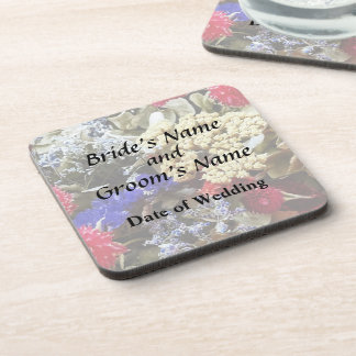 Assortment Of Dried Flowers Wedding Supplies Beverage Coasters