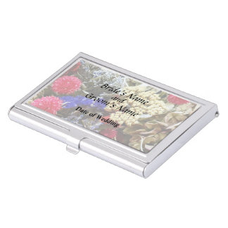 Assortment Of Dried Flowers Wedding Supplies Business Card Holder