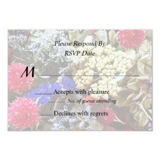 Assortment Of Dried Flowers Wedding Supplies Card