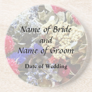Assortment Of Dried Flowers Wedding Supplies Coaster