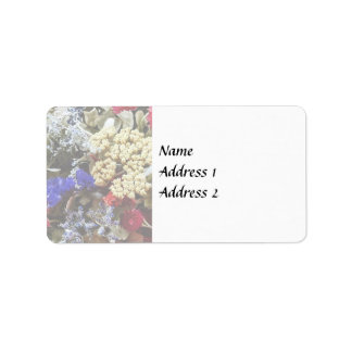 Assortment Of Dried Flowers Wedding Supplies Label