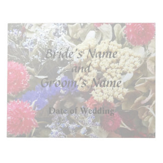 Assortment Of Dried Flowers Wedding Supplies Notepad